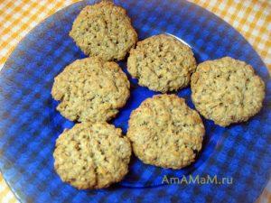 Пошаговые фото приготовления овсяного печенья
