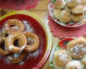 Как приготовить пышки и пончики из покупного теста (слоеного дрожжевого)