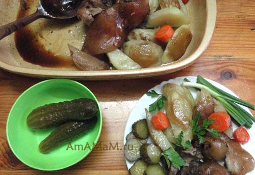 Очень вкусная еда - простой рецепт приготовления очень вкусной рульки (или голяшки)!