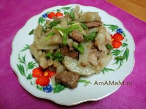 Что приготовить из картошки и свинины - простой рецепт жареного мяса с картофелем, очень вкусно!