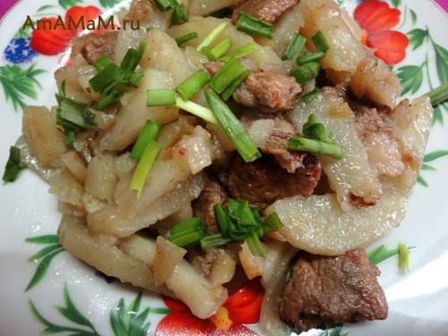 Что приготовить мужу на ужин - простой рецепт жареной картошки со свининой