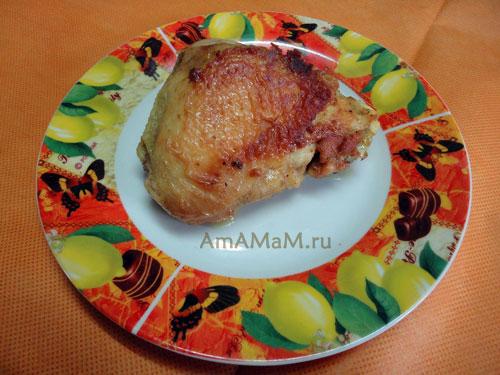 Вкусная еда - куриные бедрышки дареные