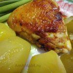 Жареные куриные бедрышки с карри