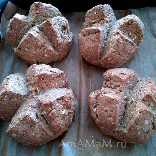 Домашний хлеб на кефире и соде