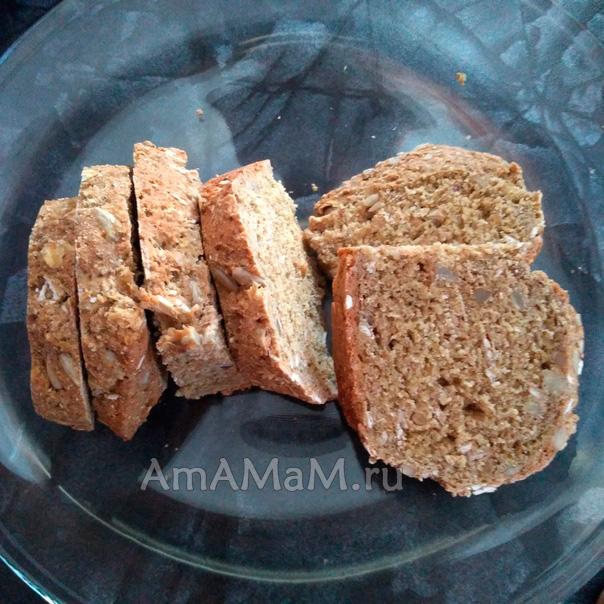 Хлеб на соде и кефире с добавлением ржаной муки
