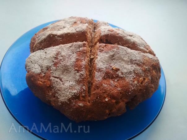 Ирландский хлеб на соде и кефире (бездрожжевой)