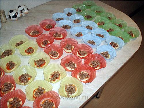 Слоёные мини-пиццы