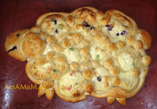 Пирог Барашек с творогом