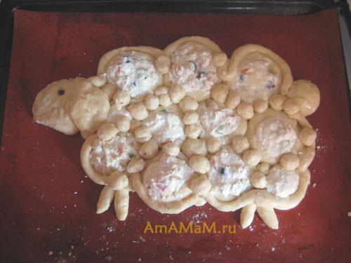 Творожный пирог в форме барашка