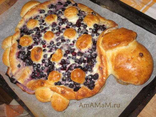 Как сделать пирог в виде ягненка или барашка для встречи Пасхи - рецепт с фото