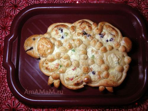Пироги с творожной начинкой в форме овечки