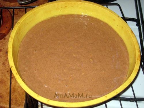 Способ приготовления постного пирога с какао, изюмом, апельсином и лимоном
