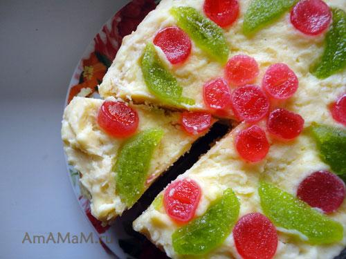 Вкусный торт из слоеных коржей - легкий рецепт