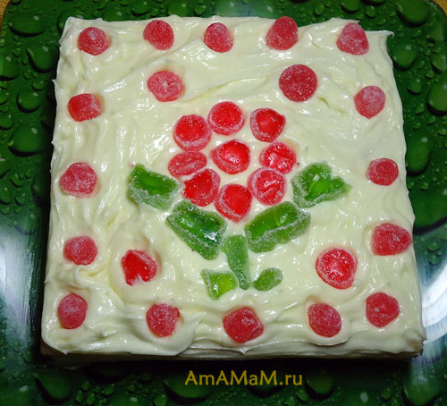 Фото квадратного торта из слоеного теста и рецепт