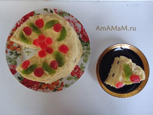 Рецепт легкого торта в домашних условиях - просто и вкусно!