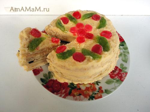 Торт Наполеон домашний - разные варианты крема и украшения