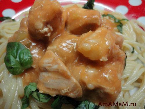 Сочная и мягкая свинина под соусом - легкий рецепт с фото