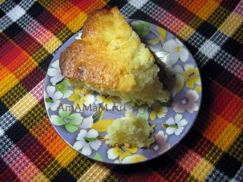 Легкий рецепт творожного кекса с фото