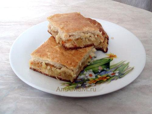 Рецепт Утопленника и фото вкусного домашнего пирога из капусты и этого простого теста