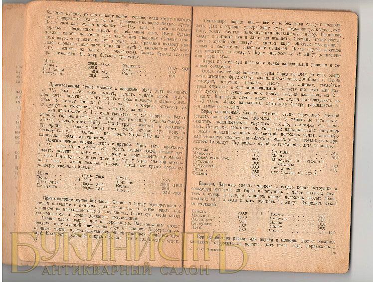 Разворот кулинарной книги советского времени - рецепты