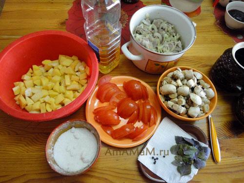 рецепт приготовления мяса в горшочках с картошкой и грибами в духовке