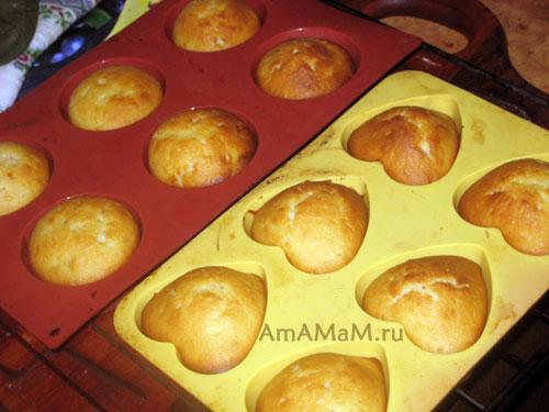 Готовим кексы в силиконовых формах - рецепт с фото