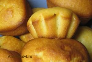 Кексы на соде в формочках - простой рецепт с кефиром и растительным маслом