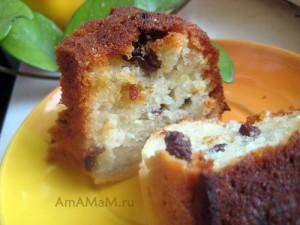 Как сделать творожный кекс с изюмом - рецепт и фото