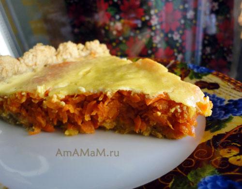 Приготовления пирогов с морковной начинкой - рецепты и фото