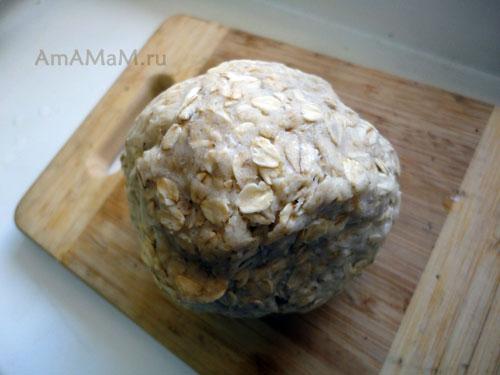 Фото овсяного теста для открытых пирогов и рецепт