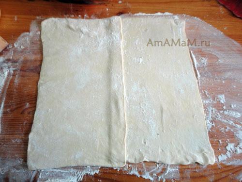 Фото слоеного теста - приготовление домашних пирогов