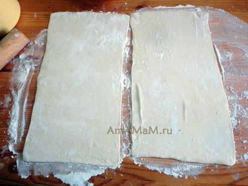 Фото приготовления пирога из покупного теста
