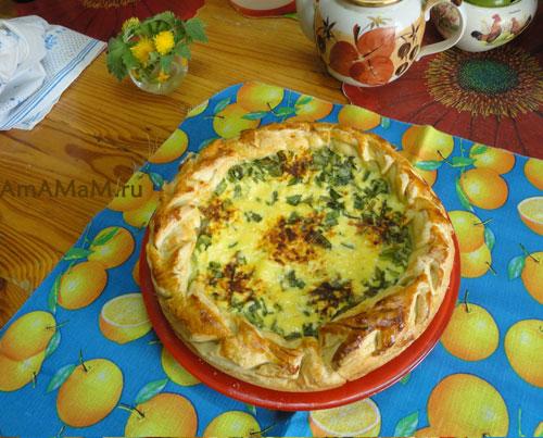 Как приготовить вкусный луковый пирог - рецепт пирожка с зеленым луком