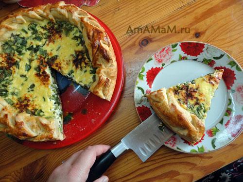 Картинки с пирогом из зеленого лука - пошаговые фото