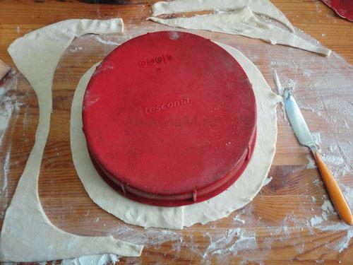 Фото приготовления пирога из слоеного теста и рецепт