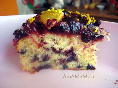 Как выглядит пирог из смородины на срезе - фото