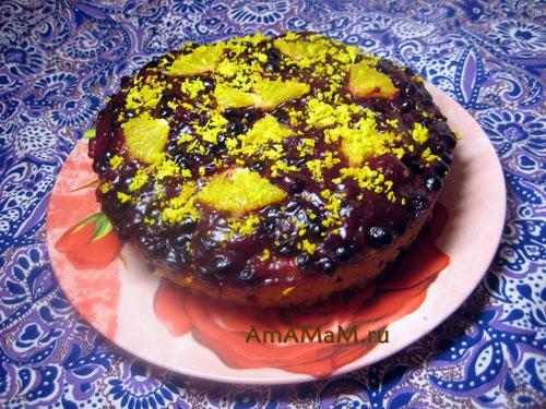 Фото пирога со смородиной и простой рецепт