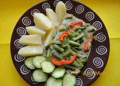 Фото запеканки из рыбы с фасолью и яйцами и рецепт