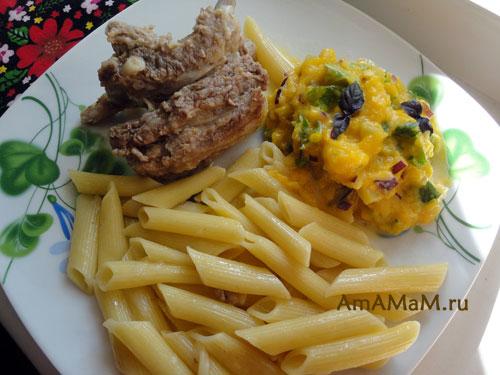 Рецепты соуса из тыквы и подача к макаронам и мясу