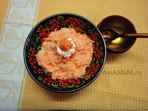 Детское пюре из моркови с яблоком - рецепт и фото
