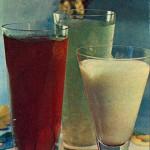 Кисель ягодный и молочный кисель