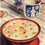 Молочный суп с овсяной крупой и зеленым горошком