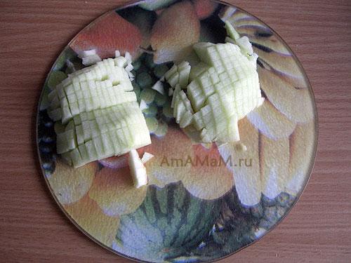 Рецепт кекса с яблоками и грецкими орехами с фото