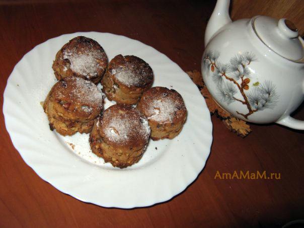 Рецепт кексов с изюмом в маленьких формочках с фото