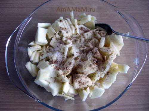 Рецепт яблочной начинки для открытого пирога на скорую руку