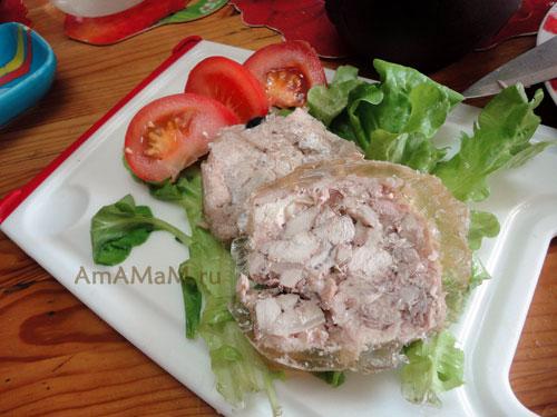 Простая и вкусная домашняя еда - рецепт куриной ветчины в пакете с фото