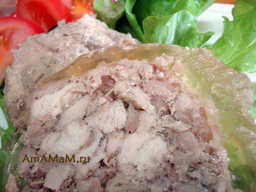 Фото домашнего рулета из курицы (куриная ветчина) и подробный рецепт