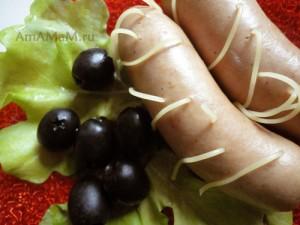 Сосиски с веревочками - рецепт сосисок со спагетти и фото