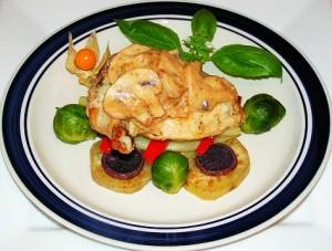 Рецепт грудки с шампиньонами и сыром в духовке - простая и вкусная еда!