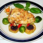 Куриная грудка с грибами (в духовке)